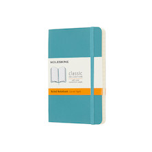 Moleskine Soft Cover Pocket Notebook 90x140 Reef Blue