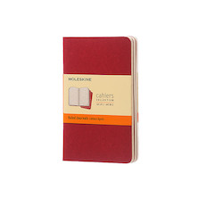 Moleskine Cahier Pocket Journal 90x140 Cranberry Red