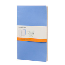 Moleskine Volant Journal Large Set of 2 Powder Blue/Royal Blue