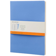 Moleskine Volant Journal Extra Large Set of 2 Powder Blue/Royal Blue
