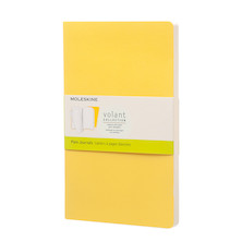 Moleskine Volant Journal Large Set of 2 Sunflower Yellow/Brass Yellow