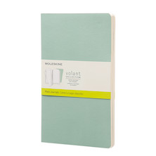 Moleskine Volant Journal Large Set of 2 Sage Green/Seaweed Green