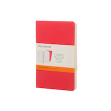 Moleskine Volant Journal Pocket Set of 2 Geranium Red/Scarlet Red