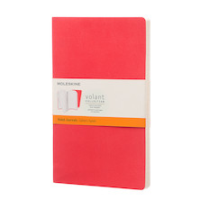 Moleskine Volant Journal Large Set of 2 Geranium Red/Scarlet Red