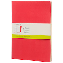Moleskine Volant Journal Extra Large Set of 2 Geranium Red/Scarlet Red