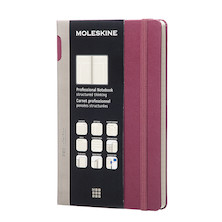 Moleskine Professional Notebook Hard Cover Large 135x210 Plum Purple