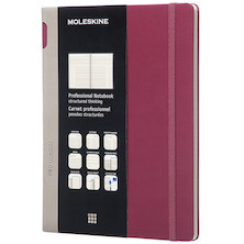 Moleskine Professional Notebook Hard Cover Extra Large 190x250 Plum Purple