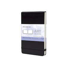 Moleskine Art Plus Watercolour Album Landscape Pocket 90x140 Black