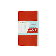 Moleskine Volant Journal Pocket Set of 2 Coral Orange/Aquamarine Blue