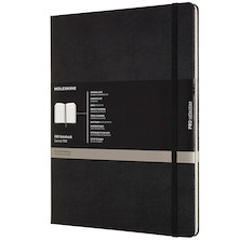Moleskine Pro Notebook Hard Cover Extra Extra Large 216x279 Black
