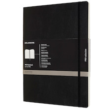 Moleskine Pro Notebook Soft Cover Extra Extra Large 216x279 Black