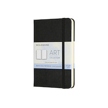 Moleskine Art Plus Watercolour Notebook Pocket 90x140 Black