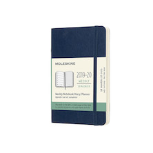 Moleskine Softcover Pocket Weekly 18 Month Diary 2019-20 Sapphire Blue