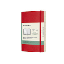 Moleskine Softcover Pocket Weekly 18 Month Diary 2019-20 Scarlet Red
