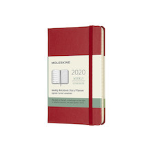 Moleskine Weekly Notebook Planner 2020 Hardcover Pocket Scarlet Red