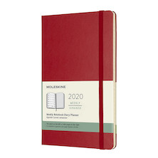 Moleskine Weekly Notebook Planner 2020 Hardcover Large Scarlet Red