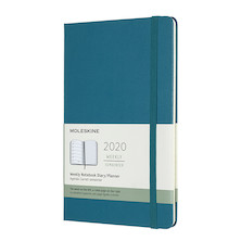 Moleskine Weekly Notebook Planner 2020 Hardcover Large Magnetic Green