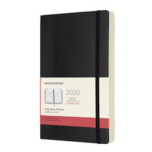 Moleskine Daily Diary 2020 Softcover Large Black