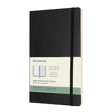 Moleskine Weekly Notebook Planner 2020 Softcover Large Black