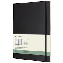 Moleskine Weekly Notebook Planner 2020 Softcover Extra Large Black