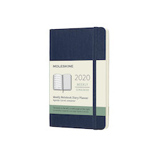 Moleskine Weekly Notebook Planner 2020 Softcover Pocket Sapphire Blue