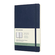 Moleskine Weekly Notebook Planner 2020 Softcover Large Sapphire Blue