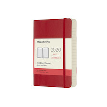 Moleskine Daily Diary 2020 Softcover Pocket Scarlet Red