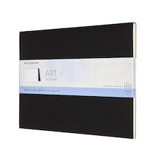 Moleskine Art Plus Watercolour Block Extra Large Notebook 190x250 Black