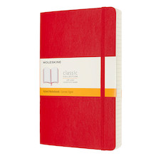 Moleskine Classic Collection Expanded Softcover Large Notebook Scarlet Red