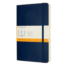 Moleskine Classic Collection Expanded Softcover Large Notebook Sapphire Blue