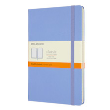 Moleskine Classic Collection Hardcover Large Notebook Hydrangea Blue