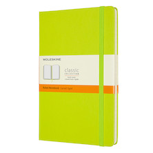 Moleskine Classic Collection Hardcover Large Notebook Lemon Green