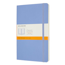 Moleskine Classic Collection Softcover Large Notebook Hydrangea Blue