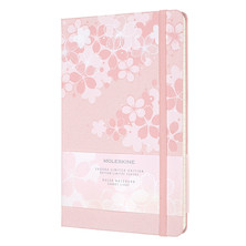 Moleskine Sakura Large Notebook Limited Edition Dark Pink Lined