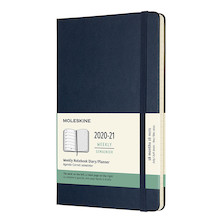 Moleskine Hardcover Large Weekly 18 Month Diary 2020-2021 Sapphire Blue