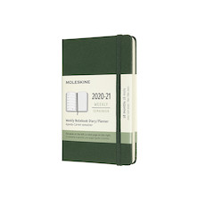 Moleskine Hardcover Pocket Weekly 18 Month Diary 2020-2021 Myrtle Green