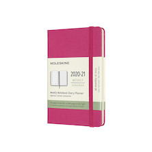 Moleskine Hardcover Pocket Weekly 18 Month Diary 2020-2021 Bougainvillea Pink