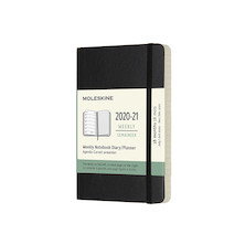 Moleskine Softcover Pocket Weekly 18 month Diary 2020-2021 Black