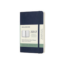 Moleskine Softcover Pocket Weekly 18 month Diary 2020-2021 Sapphire Blue