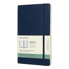 Moleskine Softcover Large Weekly 18 month Diary 2020-2021 Sapphire Blue