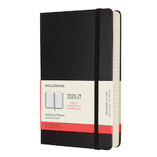 Moleskine Hardcover Large Daily 18 Month Diary 2020-2021 Black