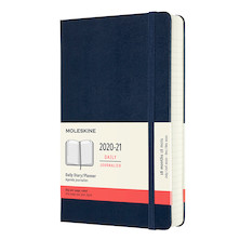 Moleskine Hardcover Large Daily 18 Month Diary 2020-2021 Sapphire Blue
