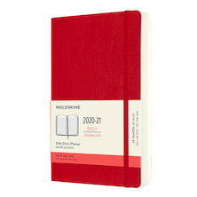Moleskine Softcover Large Daily 18 Month Diary 2020-2021 Scarlet Red