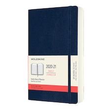Moleskine Softcover Large Daily 18 Month Diary 2020-2021 Sapphire Blue