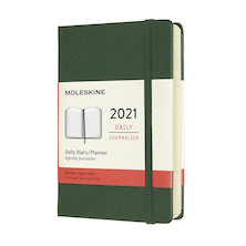 Moleskine Daily Diary 2021 Hardcover Pocket Myrtle Green