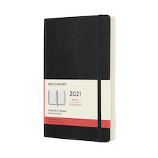 Moleskine Daily Diary 2021 Softcover Large Black