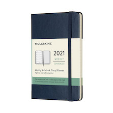 Moleskine Weekly Diary 2021 Hardcover Pocket Sapphire Blue