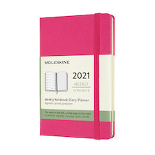 Moleskine Weekly Diary 2021 Hardcover Pocket Bougainvillea Pink
