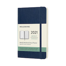 Moleskine Weekly Diary 2021 Softcover Pocket Sapphire Blue