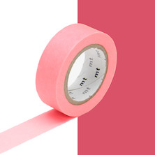 mt Washi Masking Tape - 15mm x 10m - Shocking Red
